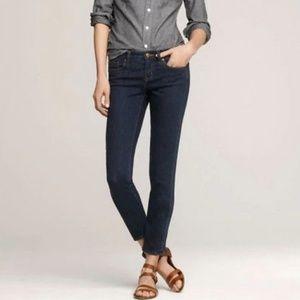 J. Crew Dark Wash Toothpick Ankle Skinny Jean